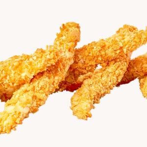 Хрупкави пилешки филенца с бадеми и корнфлейкс